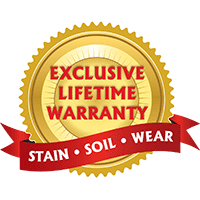With our Lifetime Warranty on our broadloom carpet collections from Infinity Nylon Carpet Fiber™, Designer's Choice, Creative Elegance, Softique™, Signature Style and Pet Defense we know you'll be happy with your new floor for years to come.